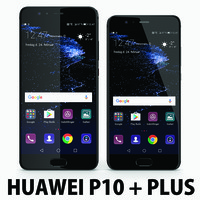 3d model huawei p10 black 0