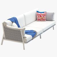 3d kettal vieques corner sofa