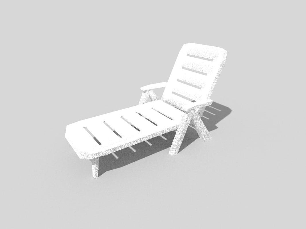 beach cot 3d model