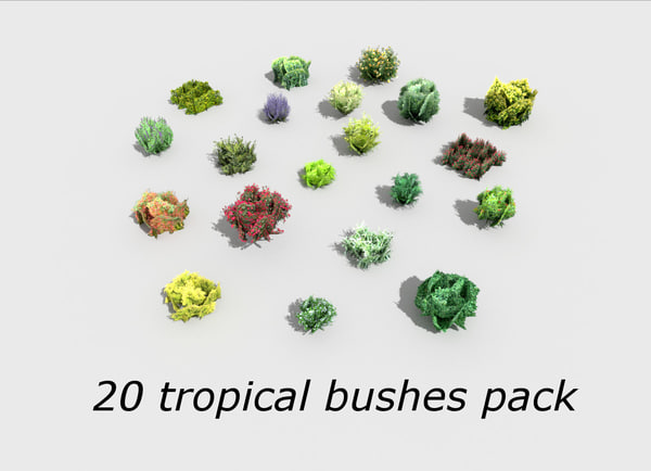 3ds pack 20 tropical shrubs