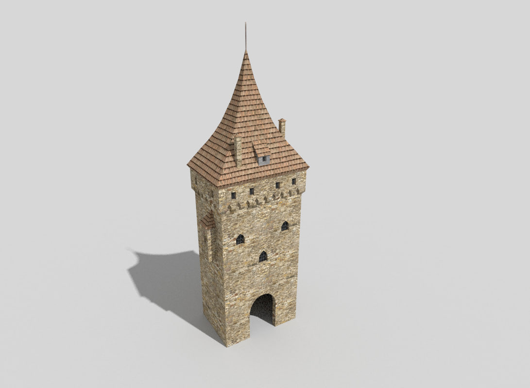 medieval tower 3d 3ds