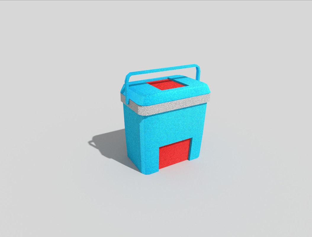 beach cooler 3d model
