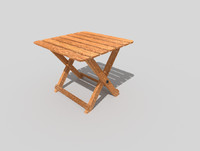low poly beach table