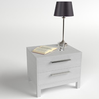 3d model bedside table set 3