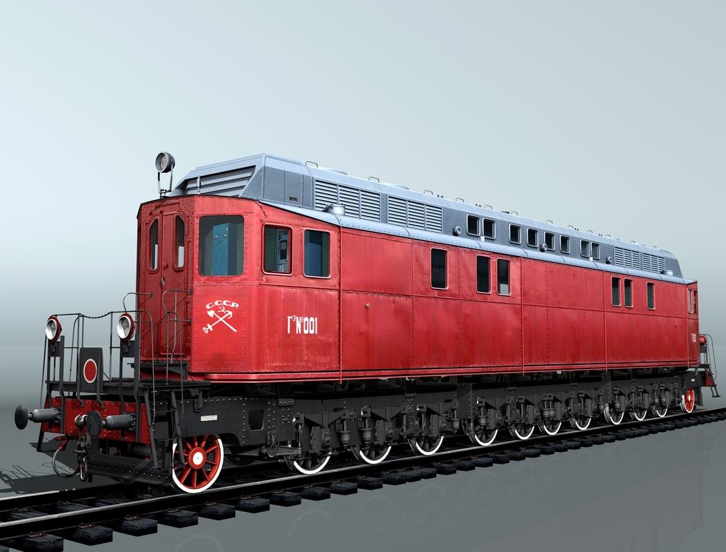diesel locomotive ge-1 obj
