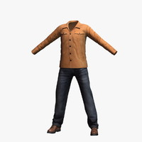 3d model mens clothing 14