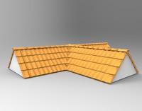 3d model roof