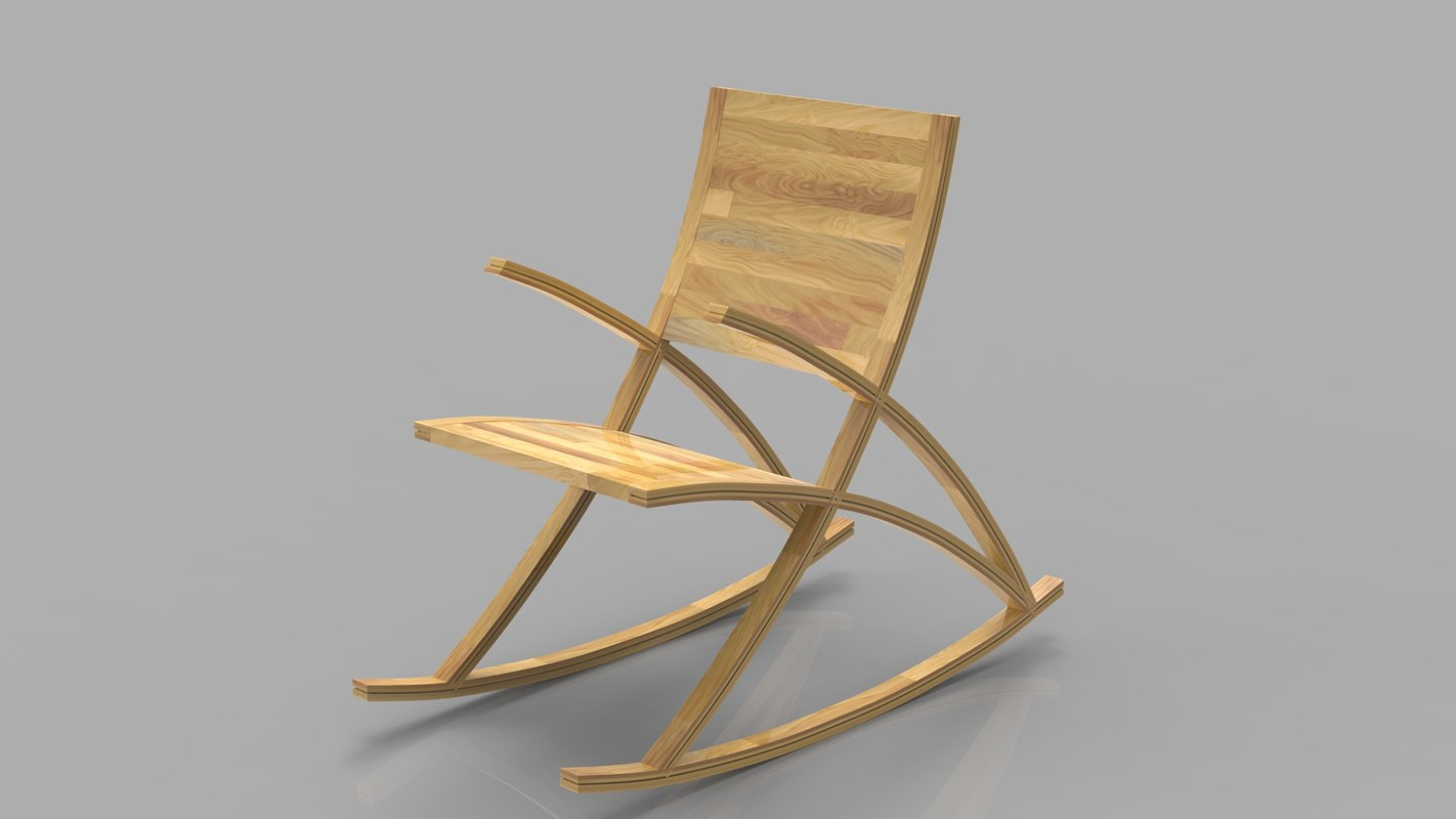 max wishbone rocking chair