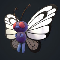 3d model of butterfree pokemon