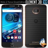 moto z force droid 3d model