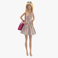 barbie doll 02 3d max