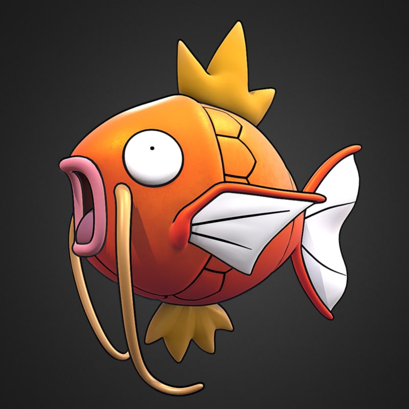 magikarp pokemon 3d model