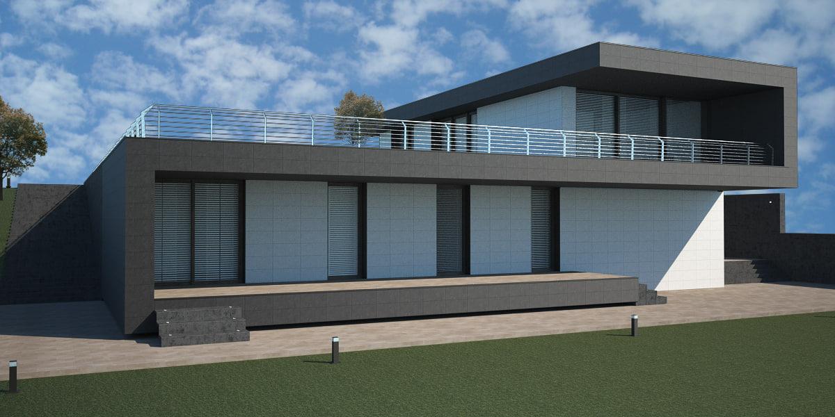 3d italian house model