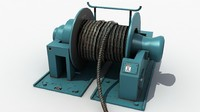 winch cable 3d max