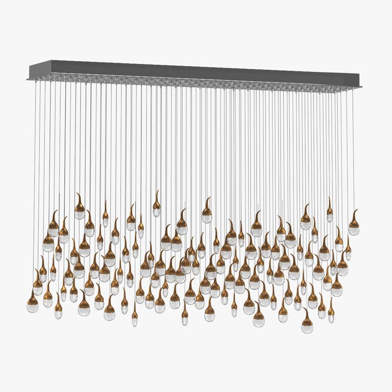 3d amenities chandelier model