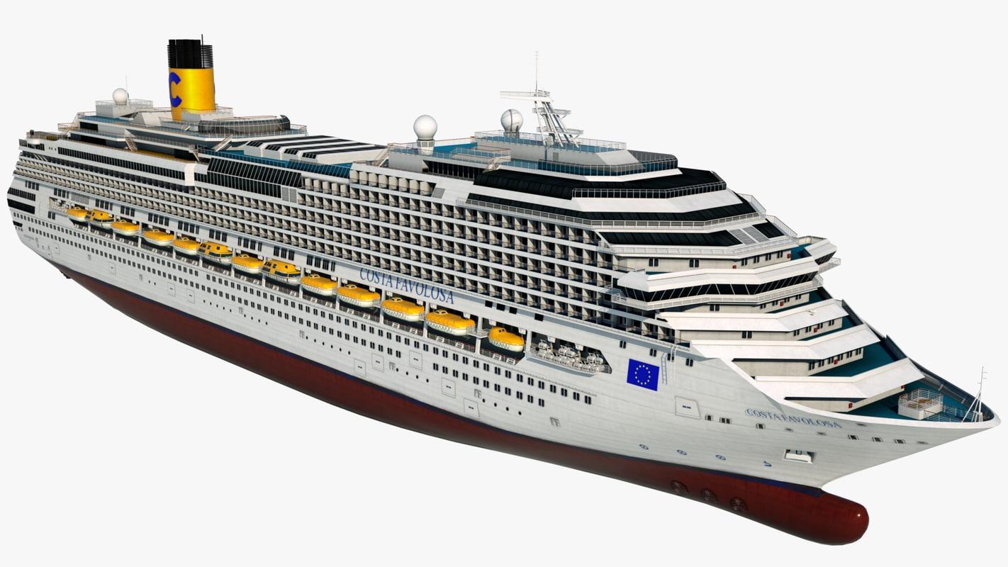 3d cruise vessel costa favolosa model