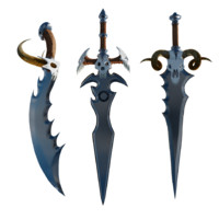 3d fantasy swords