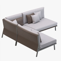 Kettal Vieques Corner and Central Sofa