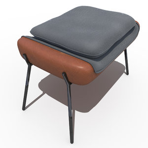 3d model leather hermes