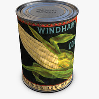 3d model canned corn