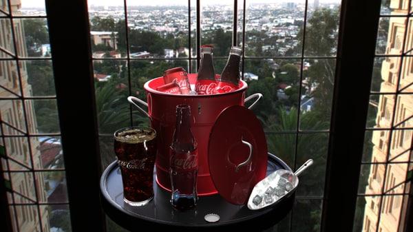 3d model coca-cola ice bucket
