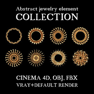 3d model abstract jewelry elements