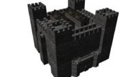 3d medieval castle houses model
