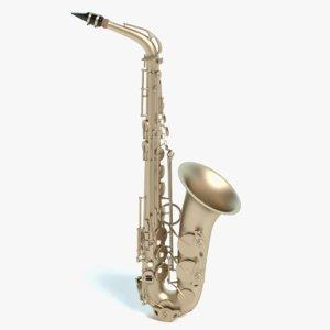 3d model sax saxophone
