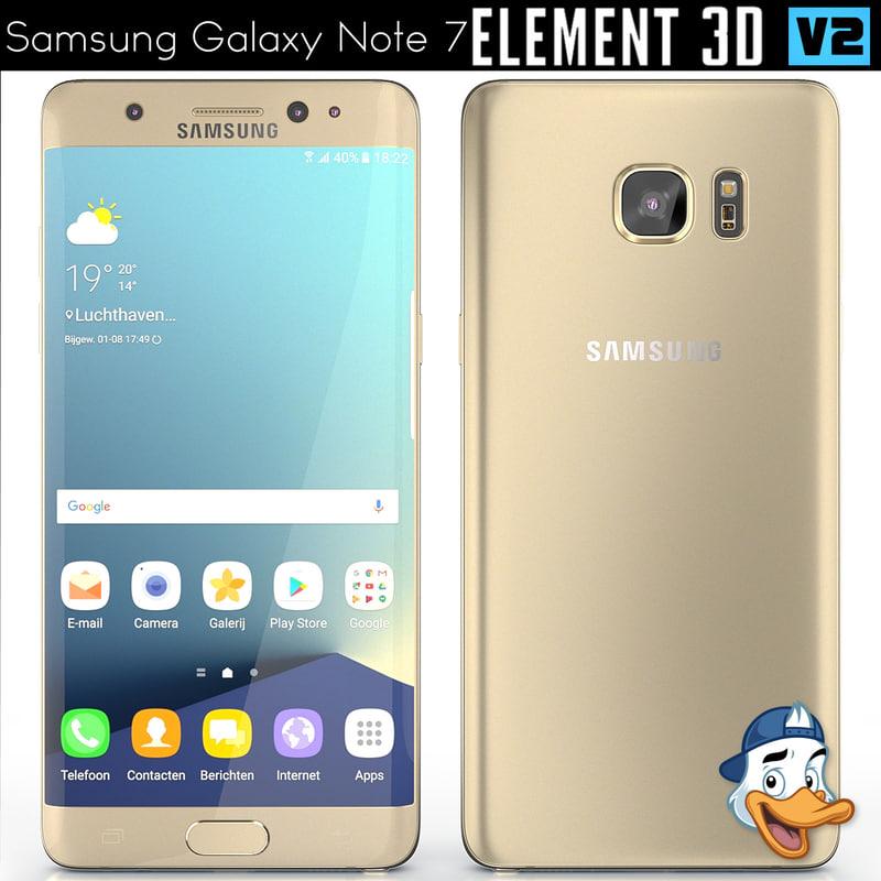 3d model samsung galaxy note 7