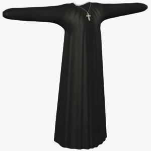 monk robe 3d 3ds