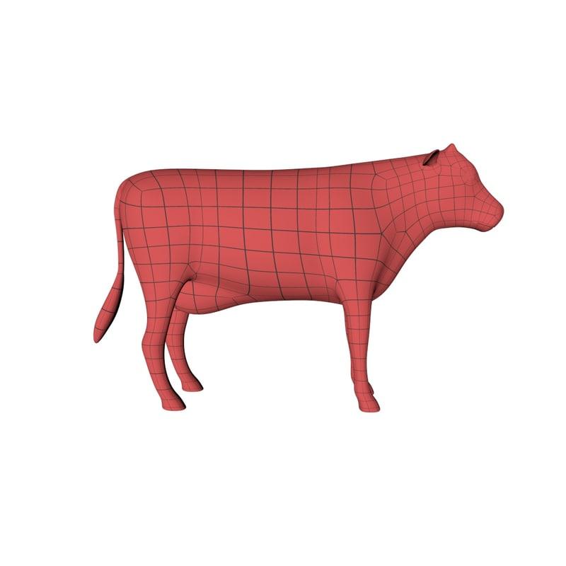 base mesh cow obj