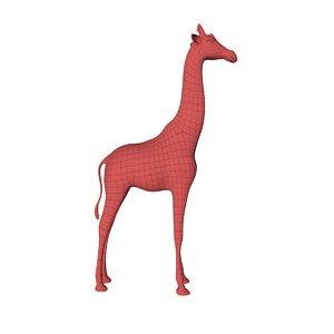 3d base mesh giraffe