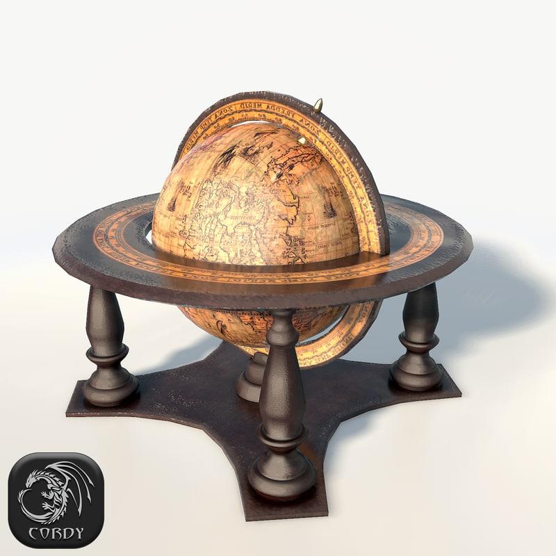 globe old 3d model