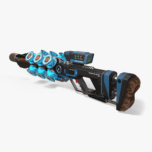 sniper blaster pbr rifle 3d max