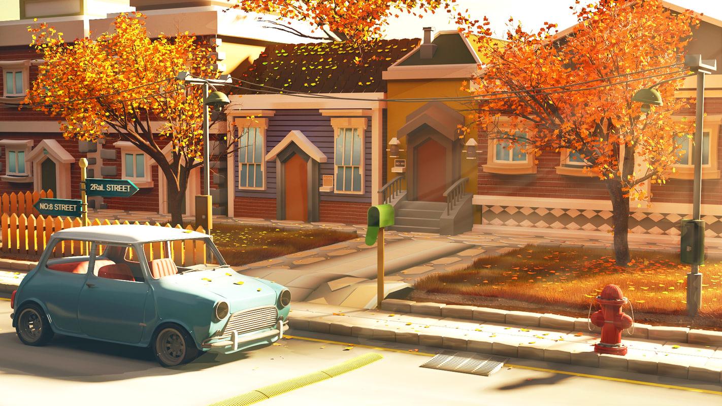 urban scene 3d 3ds