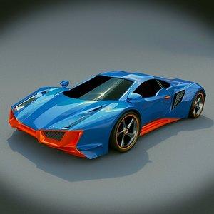 concept sports car obj