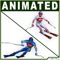 Male And Female Skier CG