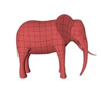 3d base mesh elephant