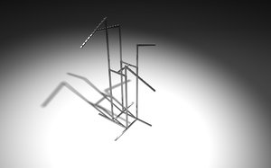 3d model retail clothes stand