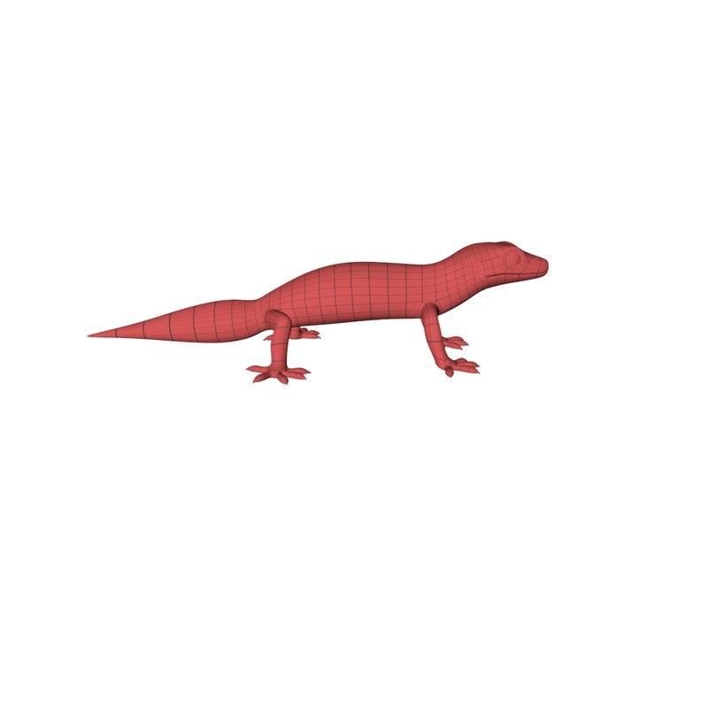base mesh gecko c4d