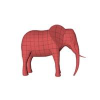 3d base mesh elephant model