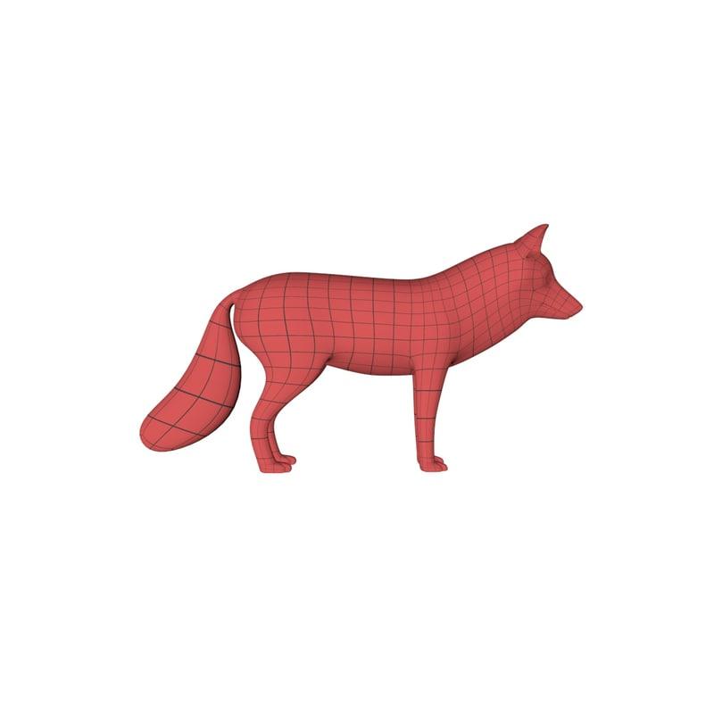 c4d base mesh fox