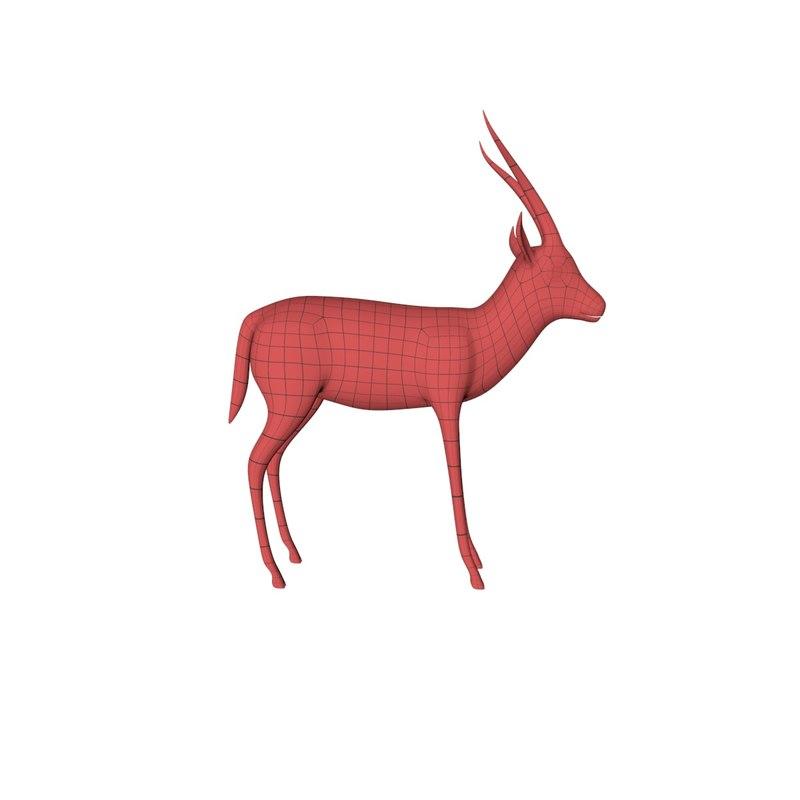c4d base mesh s gazelle