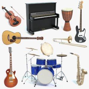 3ds musical instrument drum set