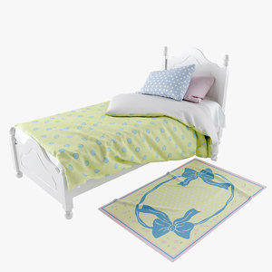 3d kids bed s model