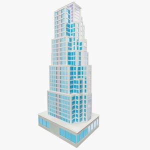 background skyscraper sky 3ds