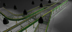 3d conveyor set model