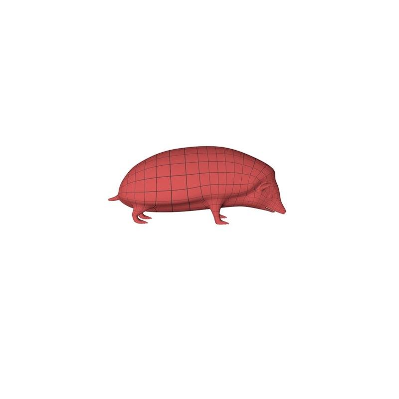 3d base mesh hedgehog model