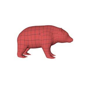base mesh grizzly bear obj