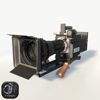 3d realistic red epic camera model